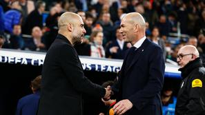 Pep Guardiola in Zinedine Zidane