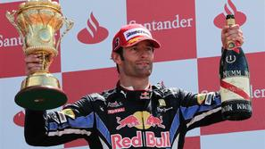 VN VB Silverstone 2010 zmaga Mark Webber Red Bull