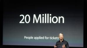 Apple Inc CEO Tim Cook talks about the iTunes Festival with the number of people