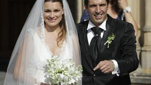 Alena Seredova in Gianluigi Buffon