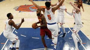 LeBron James Cleveland Cavaliers New York Knicks