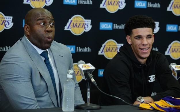 magic johnson lonzo ball