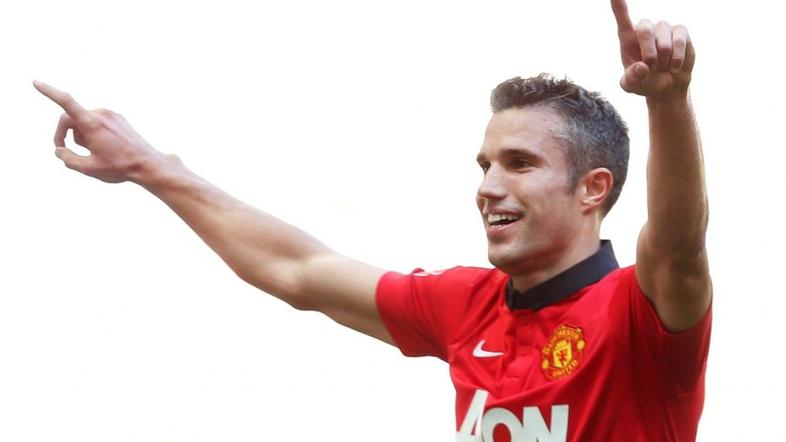Van Persie Manchester United Wigan Athletic Community Shield superpokal