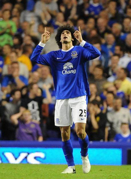 fellaini  manchester united everton