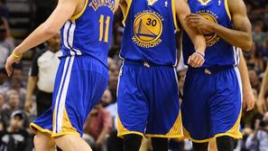 Curry Thompson Jack San Antonio Spurs Golden State Warriors NBA končnica