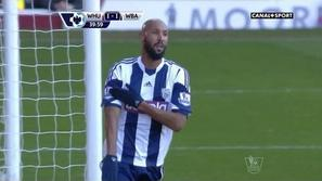 Anelka West Ham United West Bromwich Albion WBA Premier League proslavljanje pro