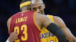 LeBron James in Kobe Bryant