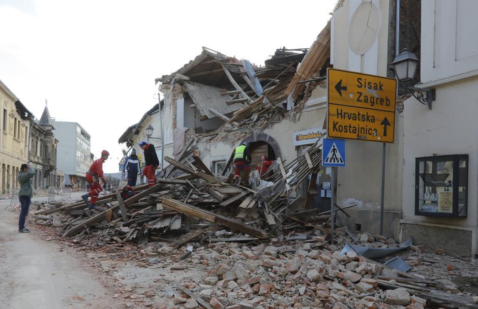 Potres na Hrvaškem   Avtor: Epa
