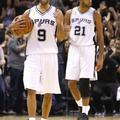 Tony Parker Tim Duncan San Antonio Spurs Dallas Mavericks