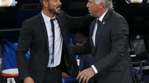 Simeone Ancelotti Real Madrid Atletico Madrid španski superpokal Bernabeu