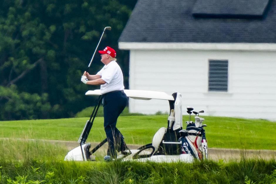 Donald Trump in golf | Avtor: Epa