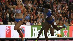 Tori Bowie 100 m London SP