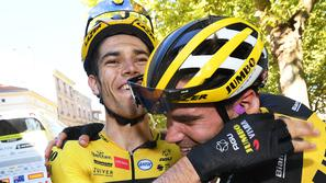 Wout van Aert in Tom Dumoulin