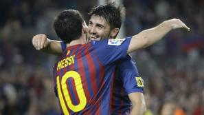 Lionel Messi David Villa Barcelona
