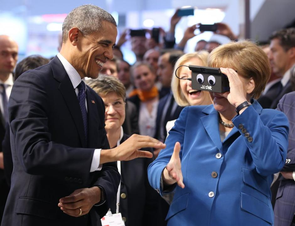 Barack Obama in Angela Merkel | Avtor: EPA