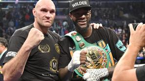 Tyson Fury in Deontay Wilder