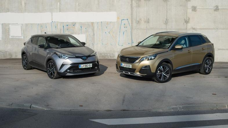 Toyota C-HR in peugeot 3008