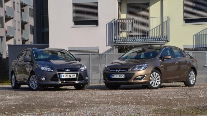 Opel astra in ford focus
