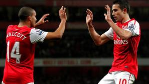 Van Persie Walcott Arsenal Newcastle United Premier League Anglija liga prvenstv