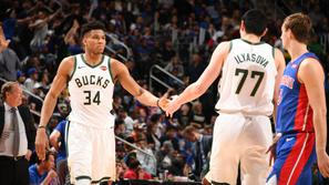 Giannis Antetokounmpo Detroit Pistons Milwaukee Bucks