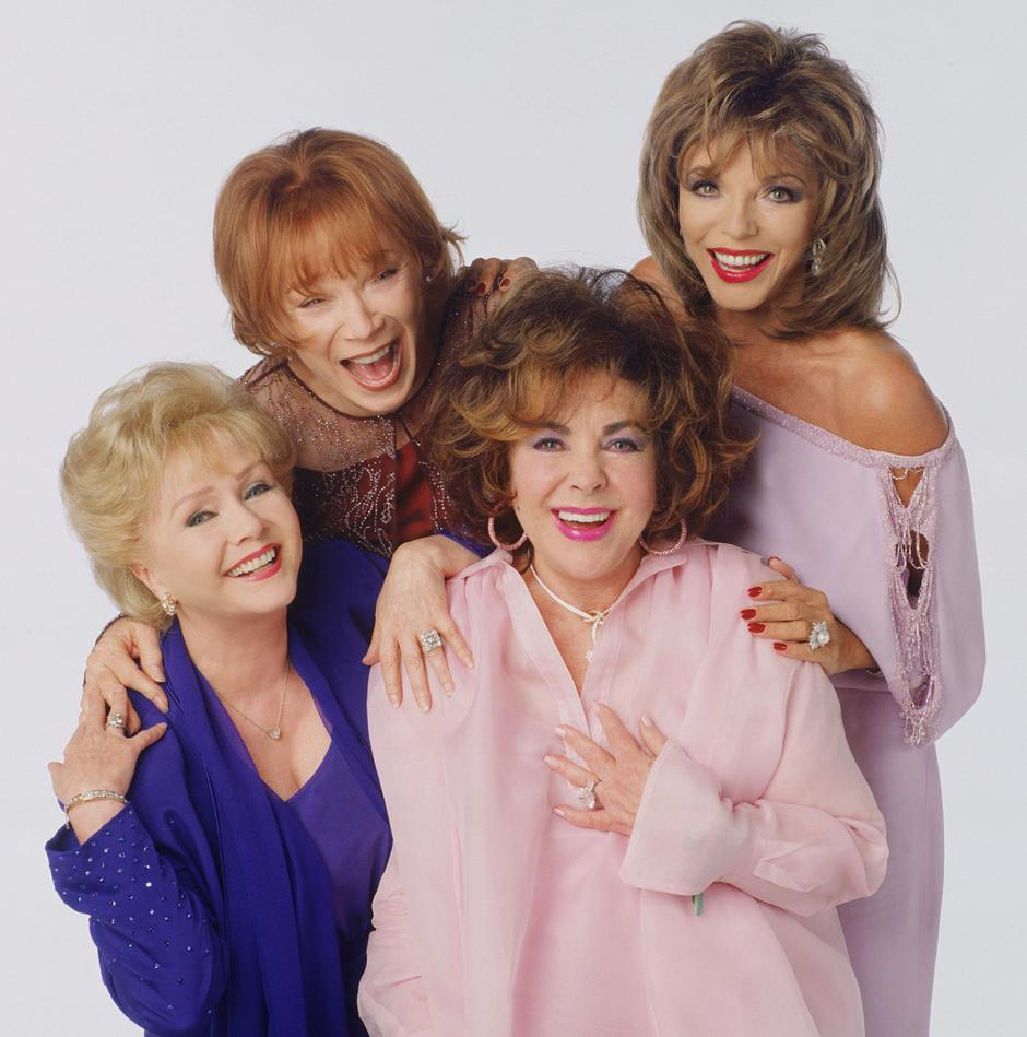 Debbie Reynolds, Shirley MacLaine, Elizabeth Taylor and Joan Collins  | Avtor: Žurnal24 main