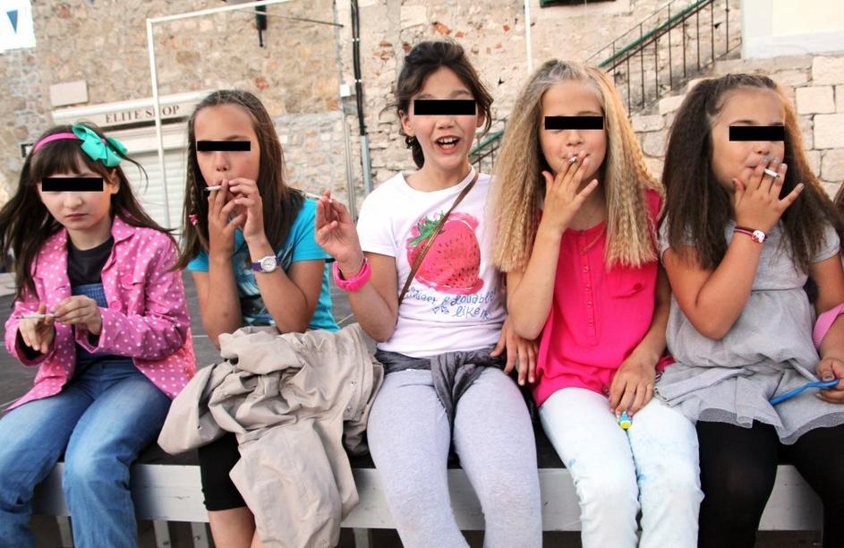 Young Girls Smoking 1
