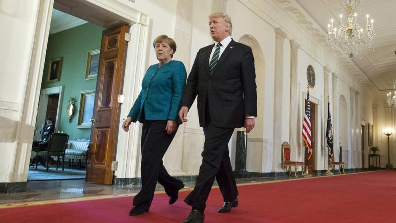 Angela Merkel in Donald Trump