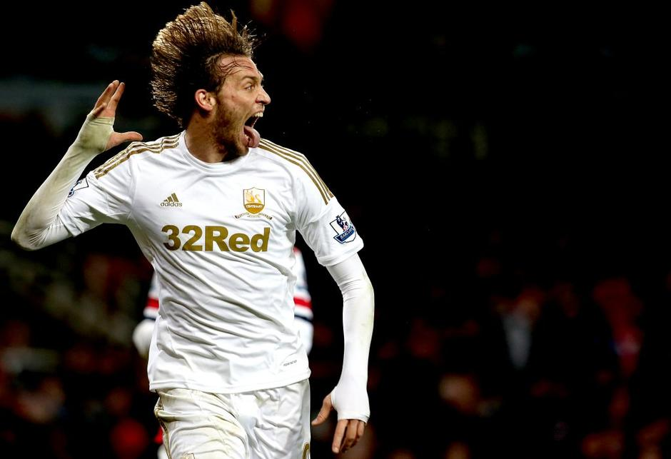 (Arsenal : Swansea City) Michu Premier League Anglija liga prvenstvo | Avtor: EPA