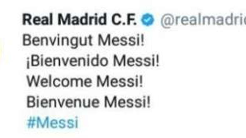 Real Madrid Messi Twitter