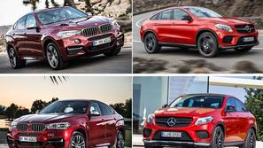 BMW X6 in Mercedes-Benz GLE coupe