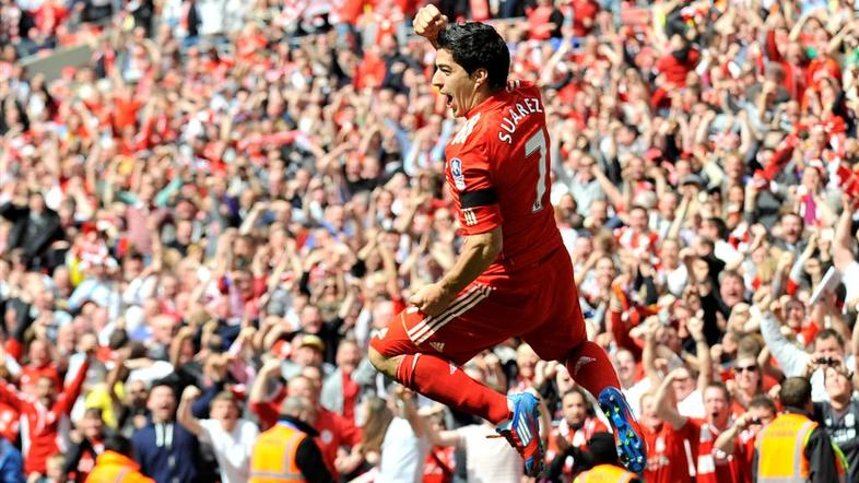 Suarez Liverpool Everton pokal FA polfinale London Wembley