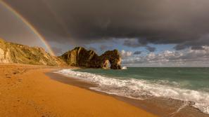 Durdle Door Beach, Dorset, Anglija